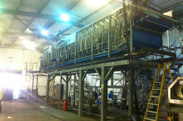 Frozen food processing line equipment upgrade